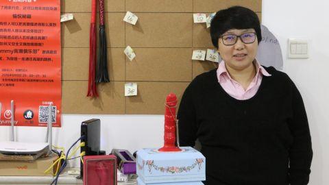Yummy founder Jing Zhao in her office in Beijing.