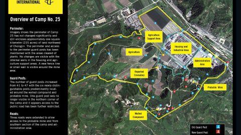 Satellite imagery shows North Korean prison Camp No. 25.