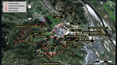 Overview of North Korean prison camp No. 25, image taken in September 2015.
