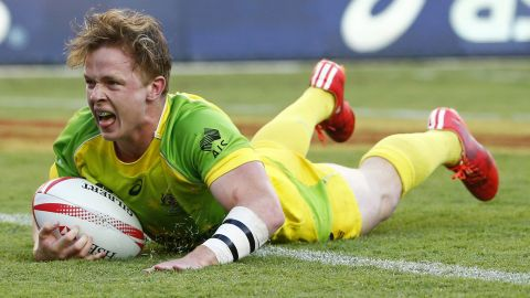 """Henry Hutchison (above) was last season's rookie of the year, scoring 27 tries, and the 19-year-old will again be a key player for Australia. Sam Caslick, brother of <a href=""""http://cnn.com/2016/12/01/sport/charlotte-caslick-world-series-rugby-sevens/index.html"""" target=""""_blank"""">Olympic women's gold medalist Charlotte Caslick</a>, is one of the new faces in the squad but her boyfriend, captain Lewis Holland, is ruled out with long-term injury."""