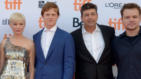 """Actors Michelle Williams, Lucas Hedges, Kyle Chandler and """"Manchester By the Sea"""" producer Matt Damon attend the film's premiere during the 2016 Toronto International Film Festival at Princess of Wales Theatre on September 13, 2016 in Toronto, Canada."""