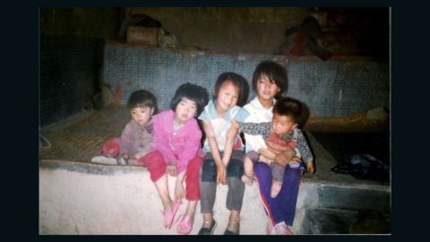 Girls born during China's one-child policy sit in a village northwest China.