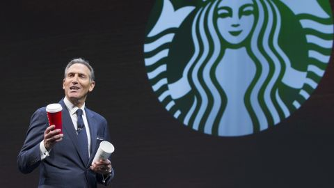 Starbucks CEO Howard Schultz speaks during the Starbucks Annual Shareholders Meeting on March 23, 2016 in Seattle, Washington. (Photo by Stephen Brashear/Getty Images)