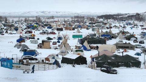 Snow covers the camp on Wednesday, November 30.