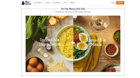 <strong>Blue Apron:</strong> For two people, a one-week meal plan is $59.94. Visit  blueapron.com and select the type of meal plan you want to send and the delivery date. Shipping is free,