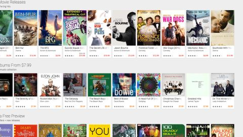 <strong>Google Play Music:</strong> Available on the Google Play website, this service is $9.99 for one month. Music subscribers also get access to YouTube Red, a paid video service. Google Play Music offers free trials as well.