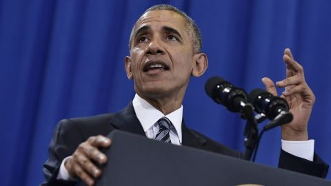 President Barack Obama speaks on counterterrorism at MacDill Air Force Base in Tampa, Florida on December 6, 2016.