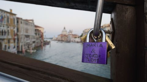Paris may be famous for its love locks, but they can be seen all over the world. In Venice, Italy, Ponte dell'Accademia also shows the trend.