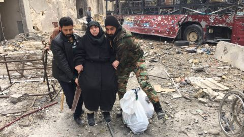Syrians escaping war-torn eastern Aleppo describe days of hunger and fear of airstrikes.