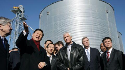 Chinese President Xi Jinping visits an Iowa farm in 2012.