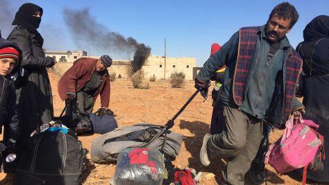 Photos from Fred Pleitgen at Maysaloon crossing, Aleppo, Syria, on December 8, 2016.