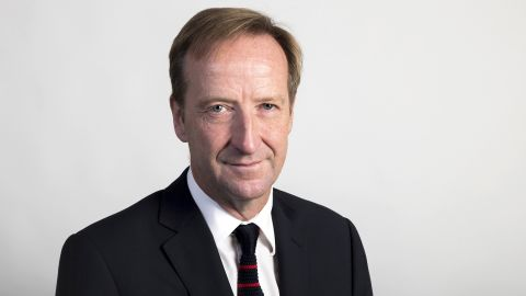 """Undated handout file photo issued by the Foreign and Commonwealth Office of spy chief Alex Younger who has said terror groups like Islamic State (IS) pose a """"persistent threat"""" that is set to last a """"professional lifetime."""""""