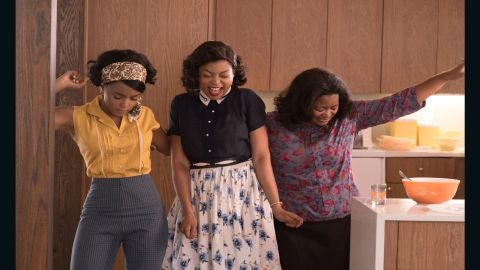 """<strong>""""Hidden Figures"""": </strong>Janelle Monáe, Taraji P. Henson and Octavia Spencer star in this biographical film about a group of African-American women who were pioneers as mathematicians at NASA. <strong>(Hulu) </strong>"""