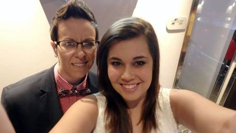 Kelli King, left, and Brittany Nunley have been dating for more than four years.
