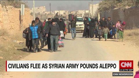 civilians flee aleppo pleitgen_00014304.jpg