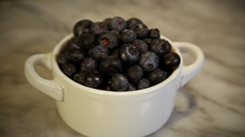 Foods that are high in Vitamin C like blueberries may help relieve stress.