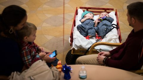 The family was headed to the hospital's banquet hall on December 13, where surgical and pediatric intensive care staff members were gathered for a farewell party.