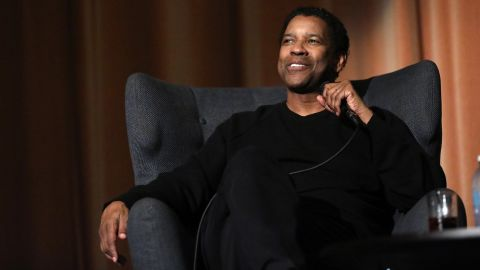 "Denzel Washington attends a ""Fences"" event on December 12 in London."