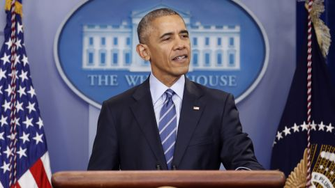 President Barack Obama speaks during a news conference in the briefing room of the White House in Washington, Friday, Dec. 16, 2016. (AP Photo/Pablo Martinez Monsivais)
