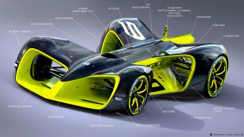 """The """"Roborace"""" series is scheduled to start in 2017 and will see 10 autonomous cars all competing on the same track."""