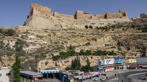 Karak Castle, which sits high upon a hill overlooking the city of Karak, is a popular tourist destination.