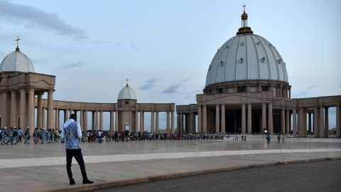 Africa's, and possibly the world's, biggest Roman Catholic church is the Basilica of Our Lady of Peace, a post-modern replica of St Peter's, Rome in Yamoussoukro, Côte d'Ivoire. Consecrated in 1990, this pet project of the late president Félix Houphouët-Boigny doubled the poverty-stricken country's national debt, yet few people of any religion kneel under its matronly dome today.