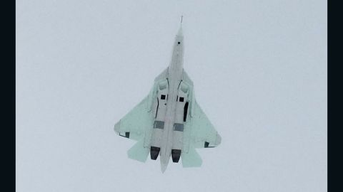 The Russian T-50 prototype stealth fighter flies. Reports say it can fly at twice the speed of sound.