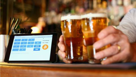 While predominately used for moving money or shopping on the internet, some venues, such as The Old Fitzroy pub in Sydney, Australia, allow people to pay with the currency digitally.