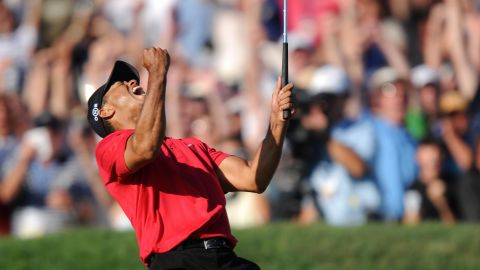 Despite being visibly hampered and in pain from a knee injury, Woods won the US Open in breathtaking fashion at Torrey Pines, California, in 2008. It was his 14th major title to leave him only four behind the record of Jack Nicklaus. He was later diagnosed with knee ligament damage and two fractures of his left tibia. He missed the rest of the season after surgery. It is still his last major title.
