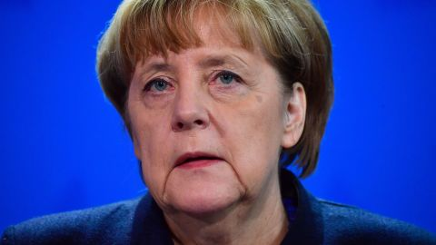 German Chancellor Angela Merkel speaks during a press conference on December 20, 2016 in Berlin following a terrorist attack the killing of 12 people when a speeding lorry cut a bloody swathe through a Berlin Christmas market.  / AFP / John MACDOUGALL        (Photo credit should read JOHN MACDOUGALL/AFP/Getty Images)