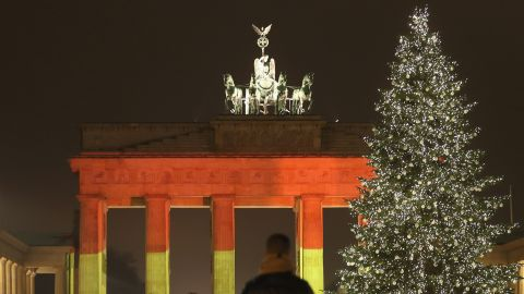 BERLIN, GERMANY - DECEMBER 20:  The Brandenburg Gate stands illuminated in the colors of the German flag the day before a truck drove into a crowded Christmas market in the city center on December 20, 2016 in Berlin, Germany. So far 12 people are confirmed dead and 45 injured. Authorities have confirmed they believe the incident was an attack and have arrested a Pakistani man who they believe was the driver of the truck and who had fled immediately af