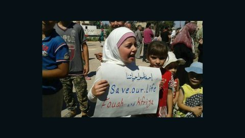 The UN says the villages of Foua and Kafraya face acute shortages of food, medicine and fuel