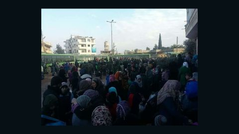 About 750 people, mainly old, injured or sick, have been allowed leave the encircled villages