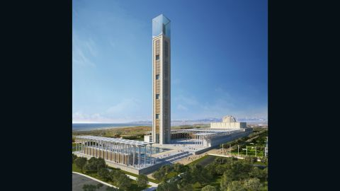 The Djamma el Djazair will be one of the world largest mosques when it opens in 2017 -- with the tallest minaret in the world at 265 meters high (874 feet).