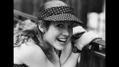 """Fisher smiles for a photograph in 1980. Fisher is a <a href=""""http://www.cnn.com/2007/SHOWBIZ/Movies/03/07/carrie.fisher/index.html"""" target=""""_blank"""">well-respected script doctor</a> of such movies as """"The Wedding Singer"""" and """"Sister Act."""""""
