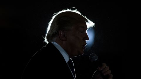 TOPSHOT - Republican Presidential hopeful Donald Trump speaks during a rally March 13, 2016 in West Chester, Ohio. / AFP / Brendan Smialowski        (Photo credit should read BRENDAN SMIALOWSKI/AFP/Getty Images)