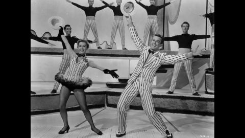 """Debbie Reynolds and Gower Champion dancing in a scene from the 1953 film """"Give A Girl A Break."""""""