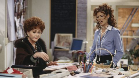 """Reynold's appears in an episode of """"Will & Grace""""  in 1999 with Debra Messing.  Reynolds played the recurring character of Bobbi Adler, mother to Messing's Grace Adler."""