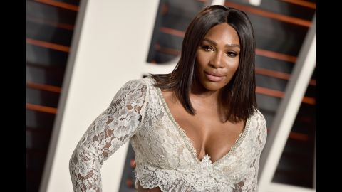 Serena attends the 2016 Vanity Fair Oscar Party Hosted By Graydon Carter at the Wallis Annenberg Center for the Performing Arts in Beverly Hills, California.