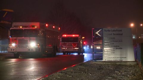 Trucks are near the search zone in Lake Erie