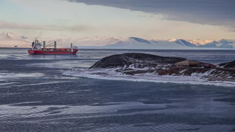 <strong>Supplies:</strong> In late January each year, a supply ship docks at McMurdo, bringing a year's worth of food, supplies, and equipment too large to carry on cargo planes. An icebreaker breaks a channel through the sea ice to allow the ship safe passage to McMurdo. A fuel tanker will also arrive to offload millions of gallons of gas, diesel and jet fuel to support science logistics at the center.