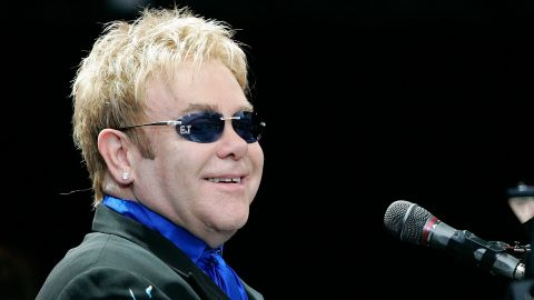 BERLIN - JULY 03:  Singer Elton John performs on stage during his concert in front of the Battle of Nations Monument on July 3, in Leipzig, Germany.  (Photo by Steffen Kugler/Getty Images)
