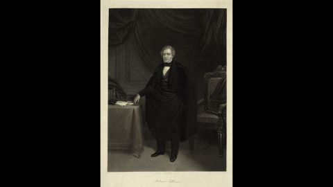 Millard Fillmore, seen here, became president after Zachary Taylor's death in 1850.