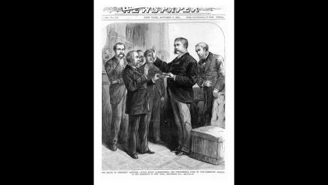 Chester A. Arthur became the nation's 21st president after the death of James A. Garfield. There have been eight times in US history when a vice president has assumed the presidency because the president died in office.