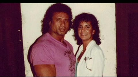 """Jimmy """"Superfly"""" Snuka with his late ex-girlfriend Nancy Argentino, who was killed in 1983."""