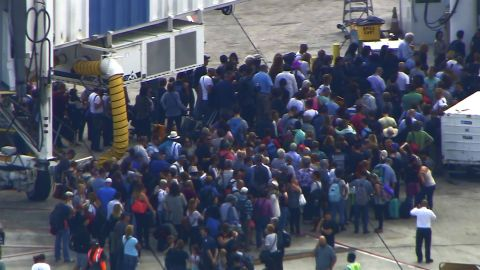 A ground stop was issued for the Fort Lauderdale airport after the shooting. Most flights scheduled to land will be delayed or diverted, and no flights will depart for the time being, the FAA said.