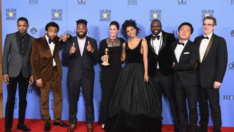 Cast and crew of 'Atlanta,' winners of Best Series - Musical or Comedy.