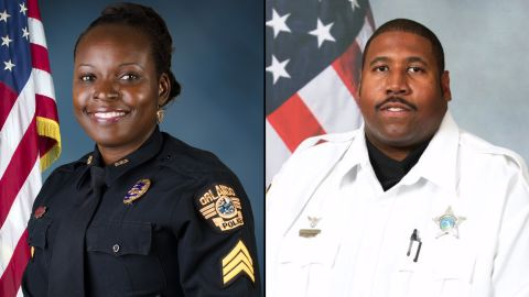 Master Sgt. Debra Clayton and Deputy First Class Norman Lewis