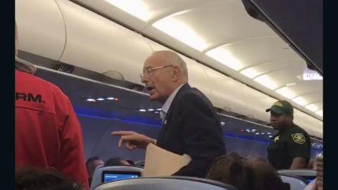 Social media video shows former New York Senator Al D'Amato being kicked off the flight