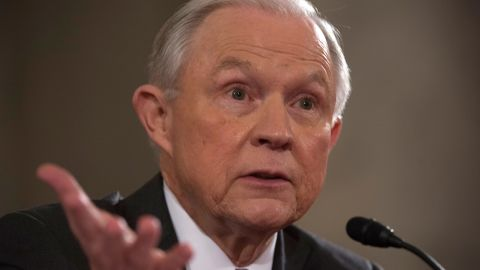 """In his <a href=""""http://www.cnn.com/2017/01/10/politics/jeff-sessions-confirmation-hearing-expectations/"""" target=""""_blank"""">wide-ranging confirmation hearing,</a> Sessions pledged to recuse himself from all investigations involving Hillary Clinton based on inflammatory comments he made during a """"contentious"""" campaign season. He also defended his views of the Supreme Court's Roe v. Wade ruling on abortion, saying he doesn't agree with it but would respect it."""